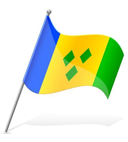 bandiera di Saint Vincent a Grenada illustrazione vettoriale