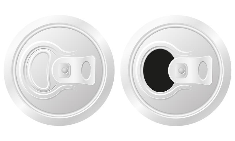 Lata cerrada y abierta de ilustración vectorial de cerveza vector
