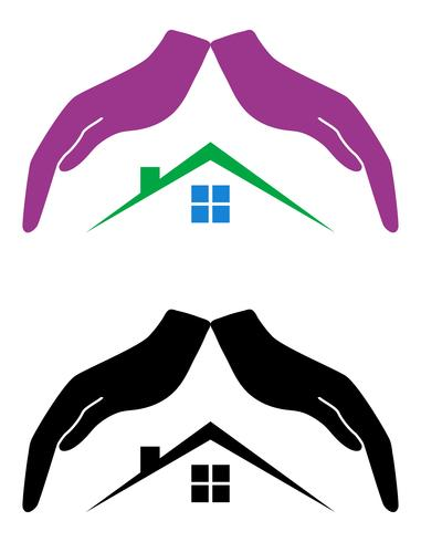 concept of protection and love of house vector illustration