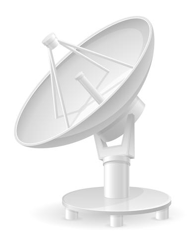 Satellitenschüssel-Vektor-Illustration