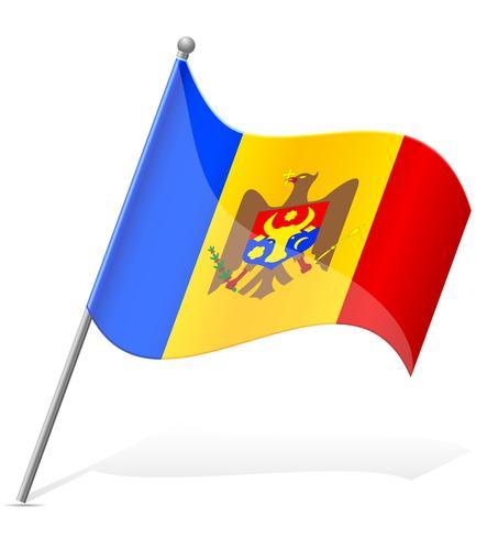 Flagge der Moldau-Vektor-Illustration