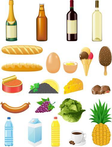 establecer iconos de los alimentos