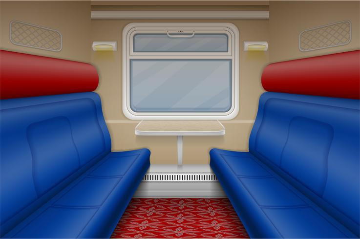 compartimiento del tren dentro de vector vista