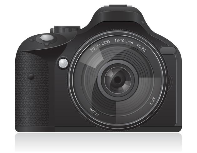 Ilustración de vector de cámara de fotos