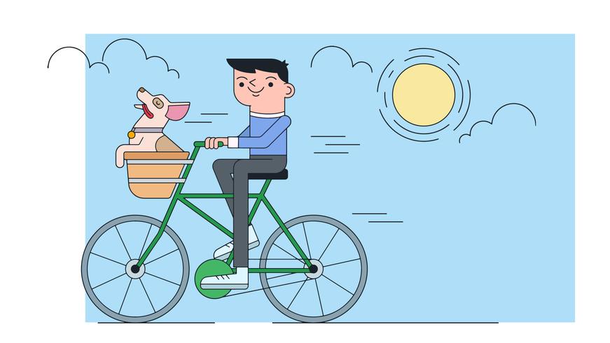 Montar bicicleta Vector