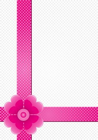 grijze achtergrond met roze strepen en een bloem