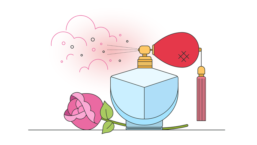 Vector de aroma de rosas