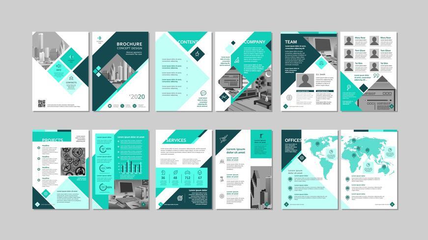 Brochure creative design. vector