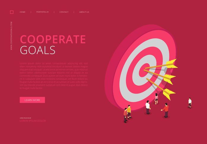 Infográfico de metas corporativas