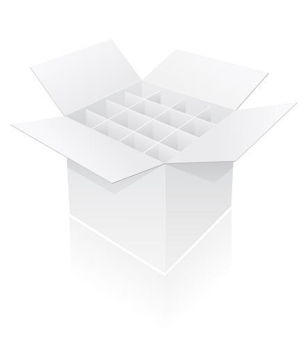 caja de embalaje para botella ilustración vectorial