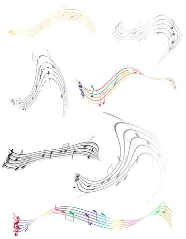 abstract musical notes stock vector illustration