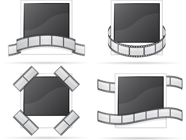set photo and filmstripe icons