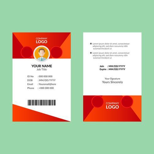 Rode ID-kaartsjabloon