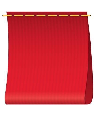 rood label voor kleding vectorillustratie