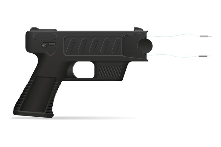 verdoven pistool wapen zelfverdediging vectorillustratie