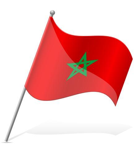 bandiera del Marocco illustrazione vettoriale