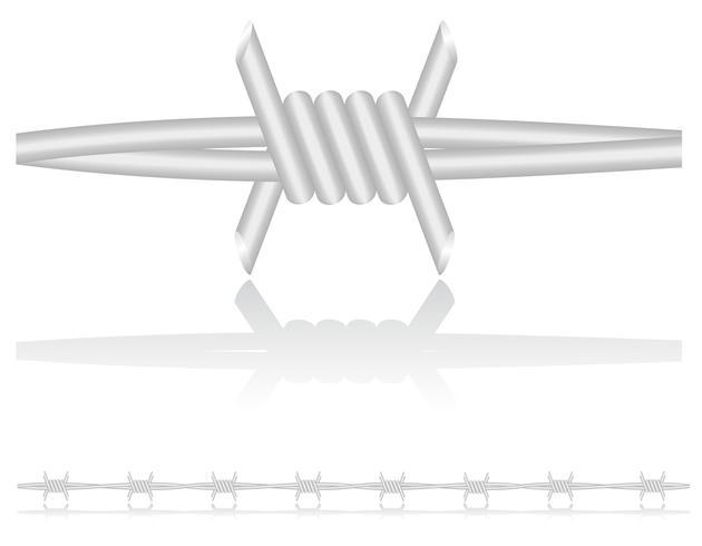 ilustração vetorial de arame farpado