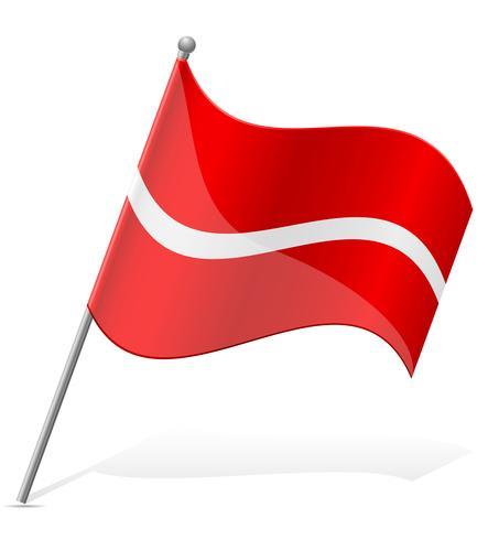 bandeira da ilustração vetorial de Letónia