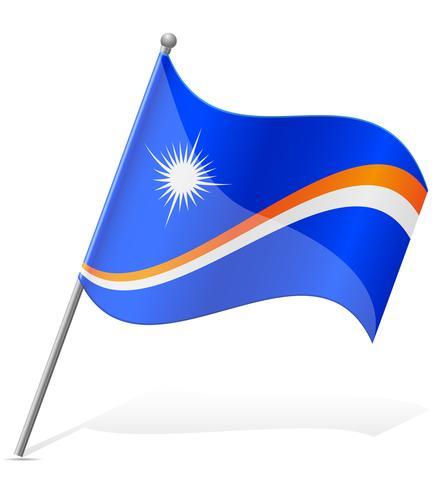 vlag van de Marshalleilanden vectorillustratie