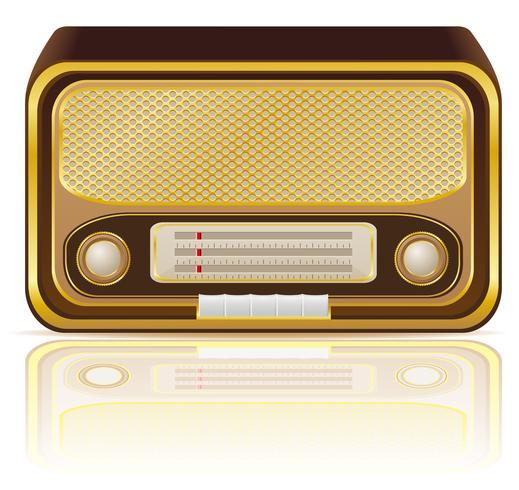 retro radio vectorillustratie