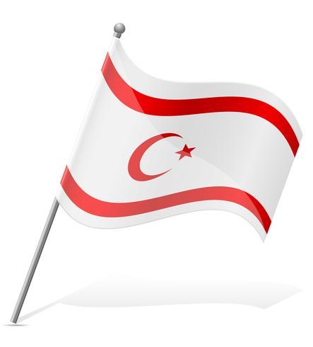 flagga turkiska republiken norra cypern vektor illustration