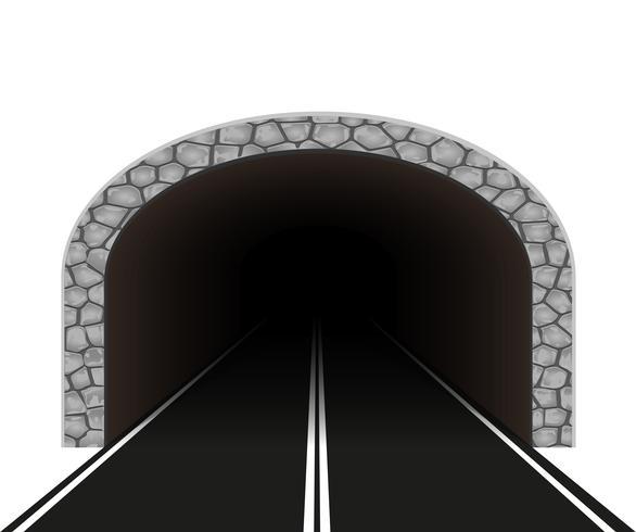 Automobil-Tunnel-Vektor-Illustration