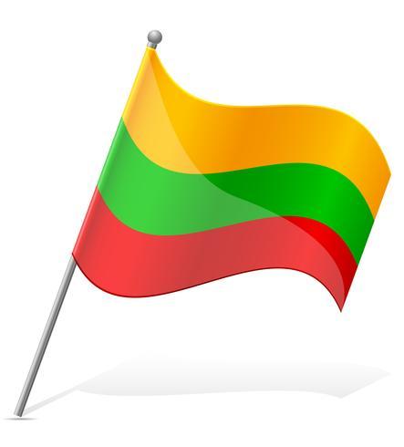 bandiera della Lituania illustrazione vettoriale