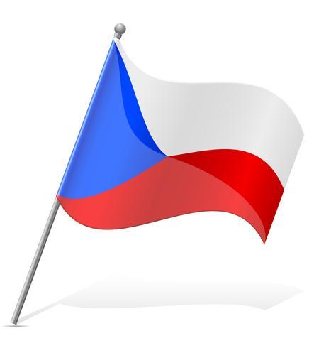 Bandera de la República Checa ilustración vectorial