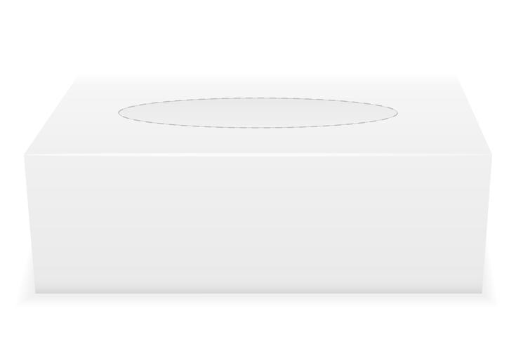 illustrazione vettoriale di scatola del tessuto bianco