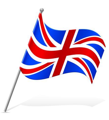 Flagge der Vektor-Illustration des Vereinigten Königreichs