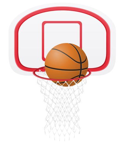Basketballkorb und Ballvektorabbildung vektor