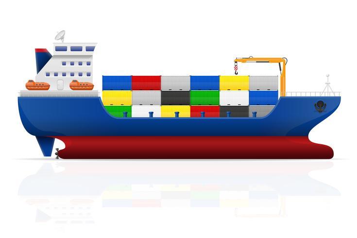 illustration vectorielle de navire cargo vecteur