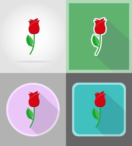 bloem plat pictogrammen vector illustratie
