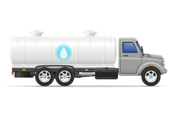 vrachtvrachtwagen met tank voor het vervoer van vloeistoffen vectorillustratie
