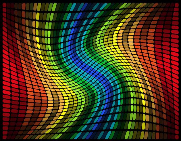 Ecualizador gráfico multicolor abstracto ilustración vectorial