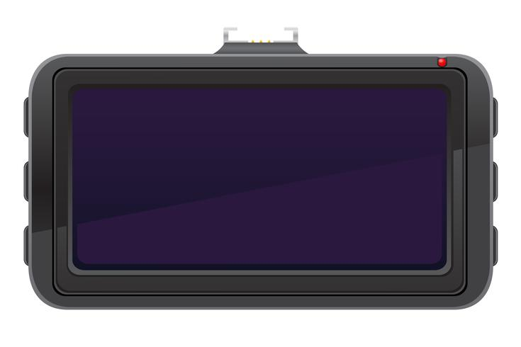 car recorder back view vector illustration