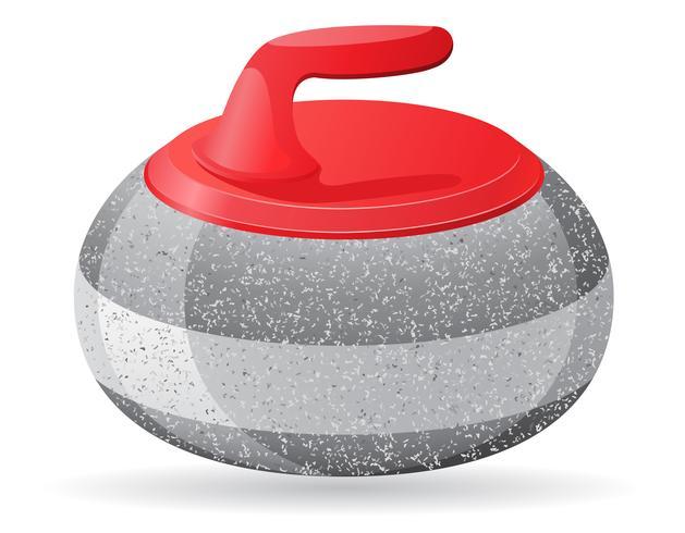 sten för curling sport spel vektor illustration