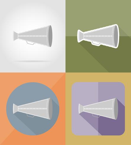 oude megafoon plat pictogrammen vector illustratie