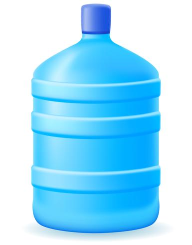 water in a plastic bootle vector illustration