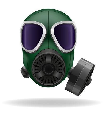 illustrazione vettoriale di maschera antigas