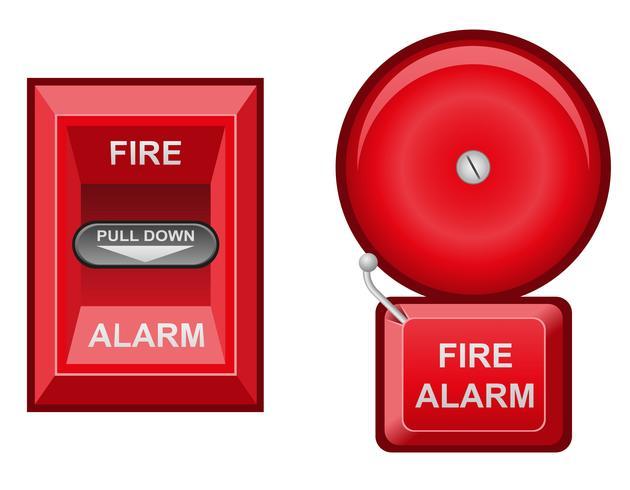 illustration vectorielle d'alarme incendie