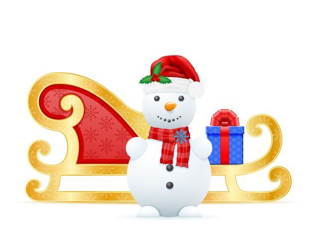 Navidad trineos santa claus vector illustration
