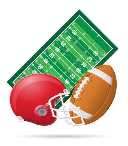 terrain pour illustration vectorielle football américain