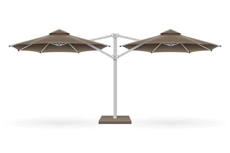 grote parasol voor bars en cafés op het terras of de strand vectorillustratie