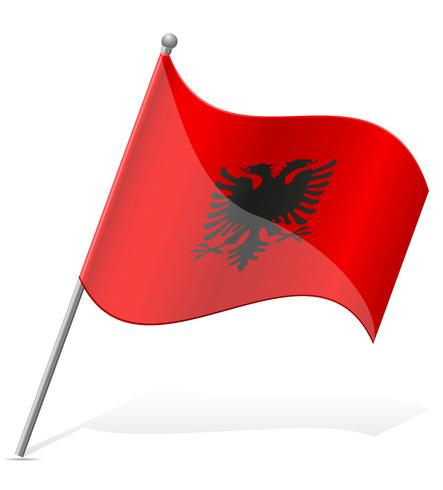 Bandera de Albania ilustración vectorial