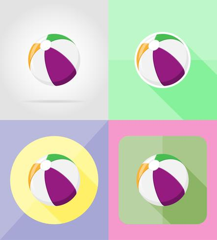 icônes de ballon de plage vector illustration