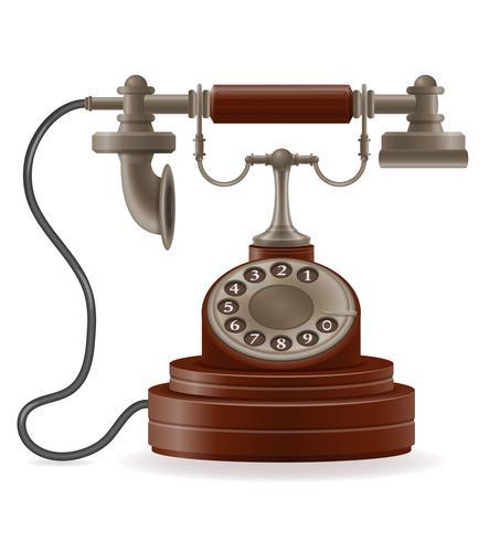 phone old retro icon stock vector illustration