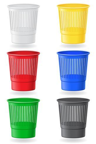 illustration vectorielle de poubelle vecteur