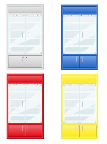 vetrina di colore di illustrazione vettoriale attrezzature negozio
