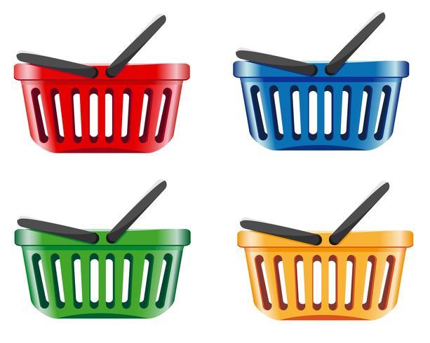 cesta de la compra de color vector